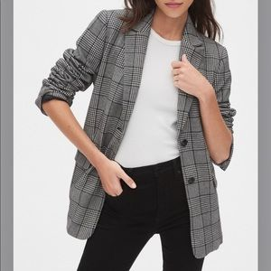 GAP Modern Plaid Blazer (Tall)